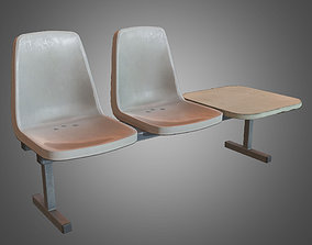 Laundromat Chairs - PBR Game Ready 3D asset