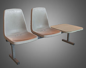 3D asset Laundromat Chairs - PBR Game Ready