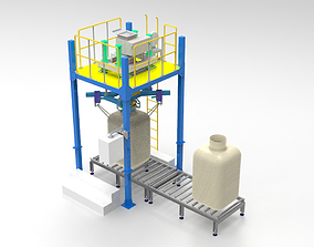 3d design model of ton bag packing machine