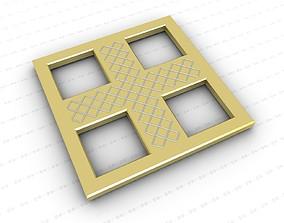 3D asset low-poly Cross