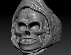 Skull in a kerchief 3D printable model