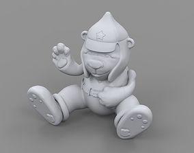 Desert Soldier bear 3D printable model