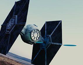 3D Star Wars TIE Ship