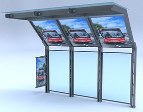 Bus station 3D vray