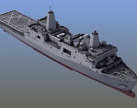 San Antonio LPD Assault Ship antonio 3D model