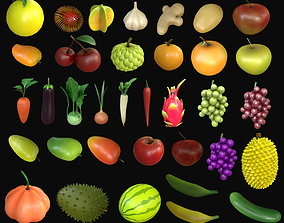 Asset - Cartoons - Food - Fruits 3D model