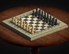 3D asset Old Chess Set