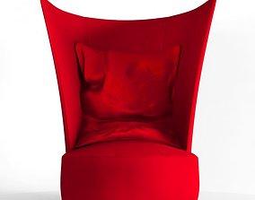 3D model red baron armchair erbaitalia