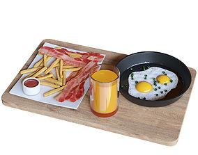 Breakfast set 3D model