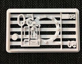 3D print model Cookie Cutter Casa de Papel Billete