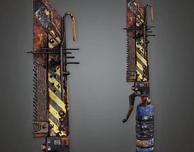 3D asset PAM - Post Apocalyptic Blade - PBR Game Ready
