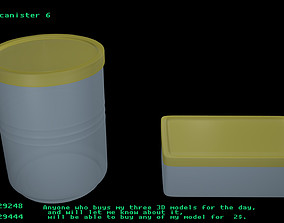 3D Plastic canister 6