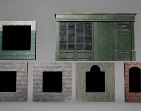 3D asset Window Set Low Poly Game Ready