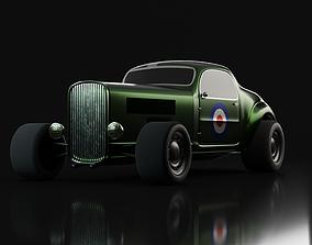 Custom Hot Rod - Game-ready car 3D asset