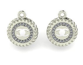 wedding earrings diamond earrings 3D print model