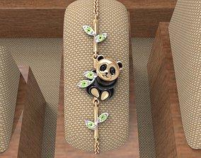 3D print model Baby panda bracelet