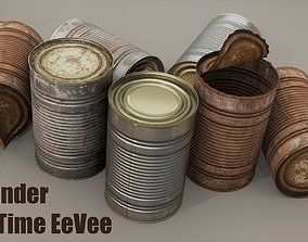 Tin Can 3D model realtime