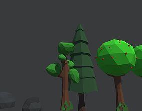 3D print model Low Poly Plants