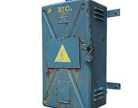 3D asset Electrical switch scan 8