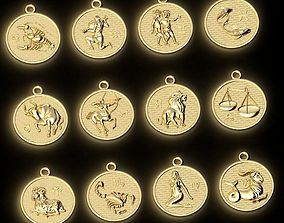 Pendants Horoscope collection for CNC 3D print model