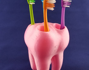 3D printable model Tooth ToothBrush Holder