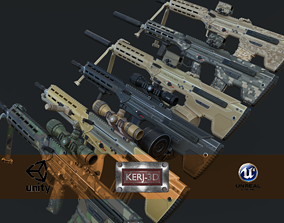 3D model Modular Bullpup Rifle-Squad Automatic Weapon