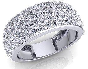 silver 3D print model Diamond Ring 07