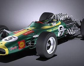 3D model Lotus 49 1967-1970 VRAY