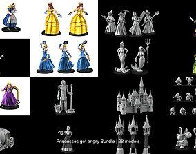 3D Princesses got angry Bundle