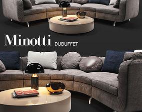 Sofa Minotti Dubuffet 3D model