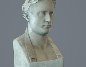 Bust Napoleon - low poly 3D model