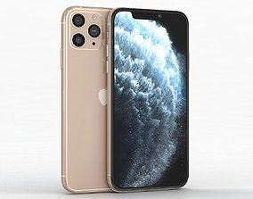 Apple iPhone 11 Pro Gold 3D model VR / AR ready