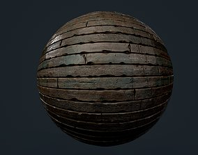 3D model Wood Floor Planks Seamless PBR Texture