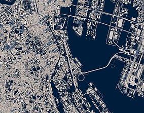 Tokyo city fragment 3d model