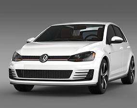 3D model Volkswagen Golf GTI 5 door 2015