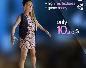 3D asset Tricia - young girl - white skin tone