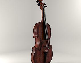 3D model game-ready sport violin