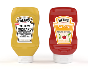 Ketchup and Mustard Bottles 3D model