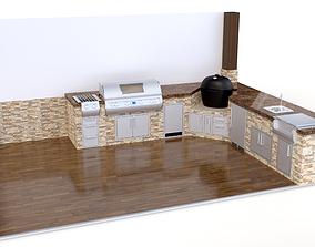 3D Outdoor kitchen