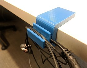 3D Printable Desk Hook