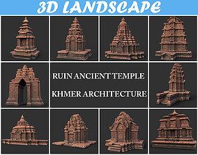 Ruin Ancient Temple - Khmer Architecture Pack 3D model 1