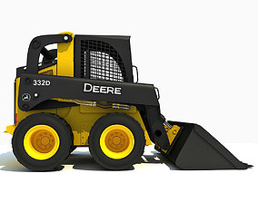 Yellow Deere Skid Steer Loader 3D model