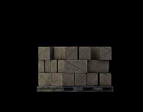 Low Poly Stoneblocks Game Ready 3D asset
