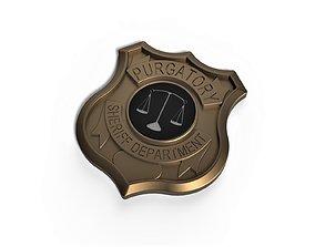3D printable badge Purgatory Sheriff