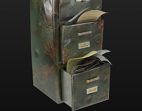 File Cabinet Game Ready 3D asset