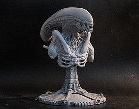 Alien bust statue 3D print model