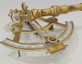 brass 3D Sextant