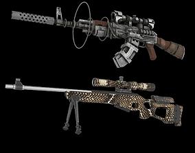 Sniper Set 3D model