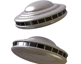30 Realistic Flying Saucers 3D