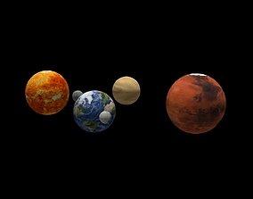 3D asset Solar System scientific